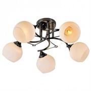 Люстра подвесная 5-рожковая XA1082/5 BK HN19, диаметр 570мм, 5х60W, E27, черный