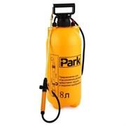 Опрыскиватель-распылитель садовый Park 990028, 8л, фибергласс удочка 84см, помповый, регулируемый ремень, желтый