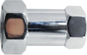 Соединение для полотенцесушителя разъемное, прямое, 1х1/2дюйма (25х15мм), внутренняя резьба, латунь, хром