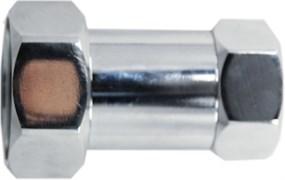 Соединение для полотенцесушителя разъемное, прямое, 1х3/4дюйма (25х20мм), внутренняя резьба, латунь, хром