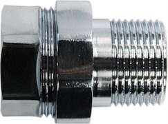 Соединение для полотенцесушителя разъемное, прямое, 1х3/4дюйма (25х20мм), внутренняя/наружная резьба, латунь, хром