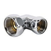 Соединение для полотенцесушителя разъемное, угловое, 1х3/4дюйма (25х20мм), внутренняя резьба, латунь, хром