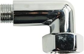Соединение для полотенцесушителя разъемное, угловое, 1х3/4дюйма (25х20мм), внутренняя/наружная резьба, латунь, хром