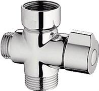 Дивертор/переключатель LEDEME LAAA-1 к смесителю в ванную, поворотный, картриджный, хром, блистер