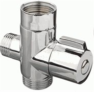 Дивертор/переключатель 20757 для смесителя в ванную, картриджный, поворотный, цинк, хром