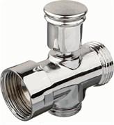 Дивертор/переключатель 20756 для смесителя в ванную, кнопочный, цинк, хром