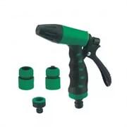 Набор для системы полива Silo, 4 предмета: пистолет-распылитель, коннектор 3/4дюйма -2шт, штуцер, пластиковый