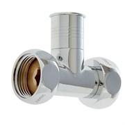 Вентиль прямой для полотенцесушителя, 1x1дюйм, накидные гайки, хром