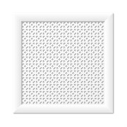 Решетка (экран) радиаторная ХДФ, 600x600мм, Сусанна, врезная, белый