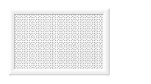 Решетка (экран) радиаторная ХДФ, 600x900мм, Сусанна, врезная, белый