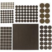 Накладки STAYER COMFORT на мебельные ножки, самоклеящиеся, фетровые, коричневые, набор 175шт