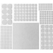 Накладки STAYER COMFORT на мебельные ножки, самоклеящиеся, фетровые, белые, набор 175шт