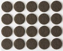 Накладки STAYER COMFORT на мебельные ножки, самоклеящиеся, фетровые, коричневые, круглые, диаметр 22мм, комплект 20шт