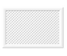 Экран для радиатора МДФ/ХДФ, 900x600мм, Готико, белый