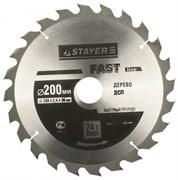 Диск пильный по дереву STAYER FAST-line, 200x32-20-16мм, 24Т - 24 зуба