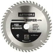 Диск пильный по дереву STAYER SUPER-Line, 190x20мм, 48Т - 48 зубьев
