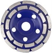 Чашка/диск алмазная шлифовальная CUTOP, двойной сегмент, 125x5x8x22.2мм, по камню, кирпичу, бетону, мрамору