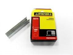 Скобы STAYER PROFI для степлера, тип 53, 14мм, закаленные, тонкие, красные, упаковка 1000шт