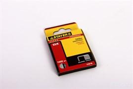 Скобы STAYER PROFI для степлера, тип 53, 6мм, закаленные, тонкие, красные, упаковка 1000шт