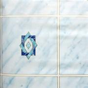 Пленка самоклеящаяся 8242, 450ммх8м, плитка голубая со звездой