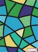 Пленка самоклеящаяся 5011С, 450ммх8м, витраж цветной