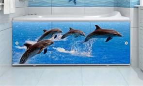 Экран под ванну Ультра легкий, 1680x600мм, ПВХ, АРТ Дельфин