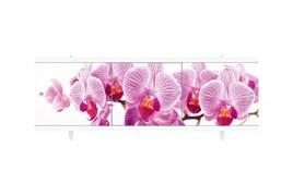 Экран под ванну Ультра легкий, 1680x600мм, ПВХ, АРТ Дикая орхидея