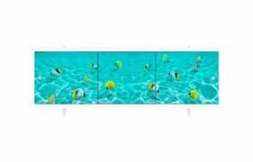 Экран под ванну Ультра легкий, 1680x600мм, ПВХ, АРТ Подводная Одиссея