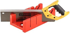 Набор STAYER 15395-35: пластиковое стусло MAXI4 + ножовка 350мм с 2-х компонентной ручкой