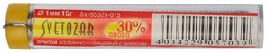 Припой Светозар оловянно-свинцовый, 30%SN/70%PB, 15г, диаметр 1мм