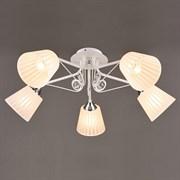 Люстра подвесная 5-рожковая N3474/5, 5х60W, E27, диаметр 650мм, QH19, WT+CR белый/хром