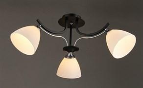 Люстра подвесная 3-рожковая N3246/3, 3х60W, E27, диаметр 650мм, высота 270мм, QH20, BK+CR хром/черный
