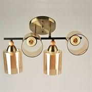 Люстра подвесная 4-рожковая 67476/4, 4х40W, E27, диаметр 430мм, высота 255мм, KLD20, AB+BK бронза/черный