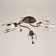 Люстра подвесная 3-рожковая 1365/3, 3х40W, E27, диаметр 580мм, высота 220мм, SKFG, коричневый