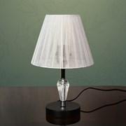 Настольная лампа 2046+141, 60W, E27, высота 350мм, черный/белый