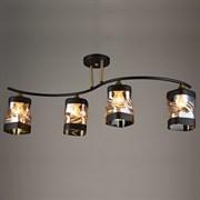 Люстра подвесная 4-рожковая N3630/4, 4x60W, E27, BK+AB черный/бронза