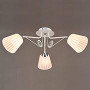 Люстра подвесная 3-рожковая N3474/3, 3х60W, E27, диаметр 650мм, WT+CR белый/хром