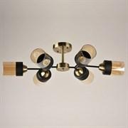 Люстра подвесная 6-рожковая 7459/6, 6х40W, E27, диаметр 730мм, высота 190мм, AB+BK бронза/черный