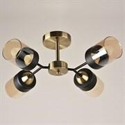 Люстра подвесная 4-рожковая 7459/4, 4х40W, E27, диаметр 550мм, AB+BK бронза/черный