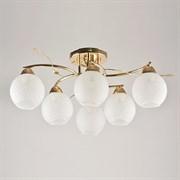 Люстра подвесная 6-рожковая 7317/6, 6х40W, E27, диаметр 550мм, FGD золото