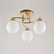 Люстра подвесная 3-рожковая 7317/3, 3х40W, E27, диаметр 420мм, FGD золото
