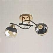 Люстра подвесная 2-рожковая 7299/2, 2х40W, E27, диаметр 430мм, высота 240мм, FGD+BK золото/черный