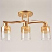 Люстра подвесная 3-рожковая 1372/3, 3х40W, E27, диаметр 480мм, высота 260мм, CG матовое золото