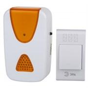 Звонок беспроводной ЭРА А02 аналоговый, 100м, 36 мелодий, 2хAA/A23, с кнопкой, IP20