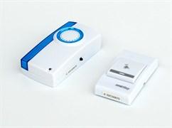 Звонок дверной беспроводной SmartBuy SBE-11-1-32 аналоговый, 100м, 32 мелодии, 2xAAA/A23, с кнопкой, белый
