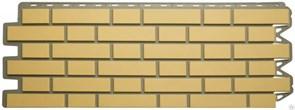Панель фасадная Альта-Профиль Кирпич, 1140x480мм, желтый