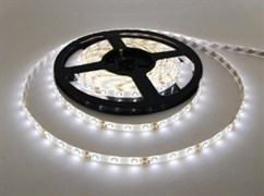 Лента светодиодная интерьерная Ecola, 12V, 4.8W/m, 60Led/m, IP20, 6000К, 240Lm/m, 6K, катушка 5м, холодный белый
