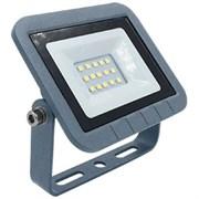 Прожектор светодиодный Ecola Projector LED, 10W, 2800К, 230В, IP65, тонкий, серебристо-серый
