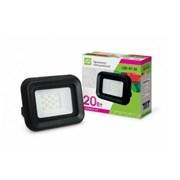 Прожектор светодиодный ASD СДО-07-20 6450, 115x105x32мм, 20W, IP65, 1600Lm, 6500К, 6К, черный