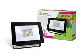 Прожектор светодиодный ASD СДО-07-50, 50Вт, IP65, 6500К, 3400лм, чёрный